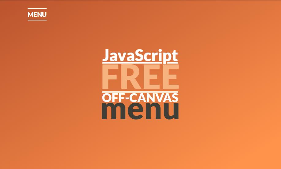 javascript off canvas menu