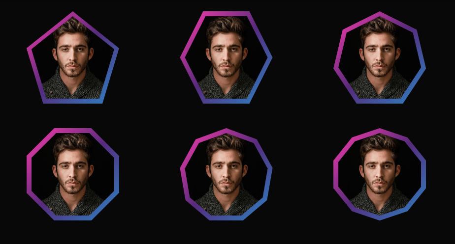 multiple shaped css color border