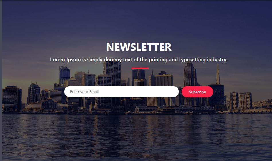 CSS Subscription Form Design