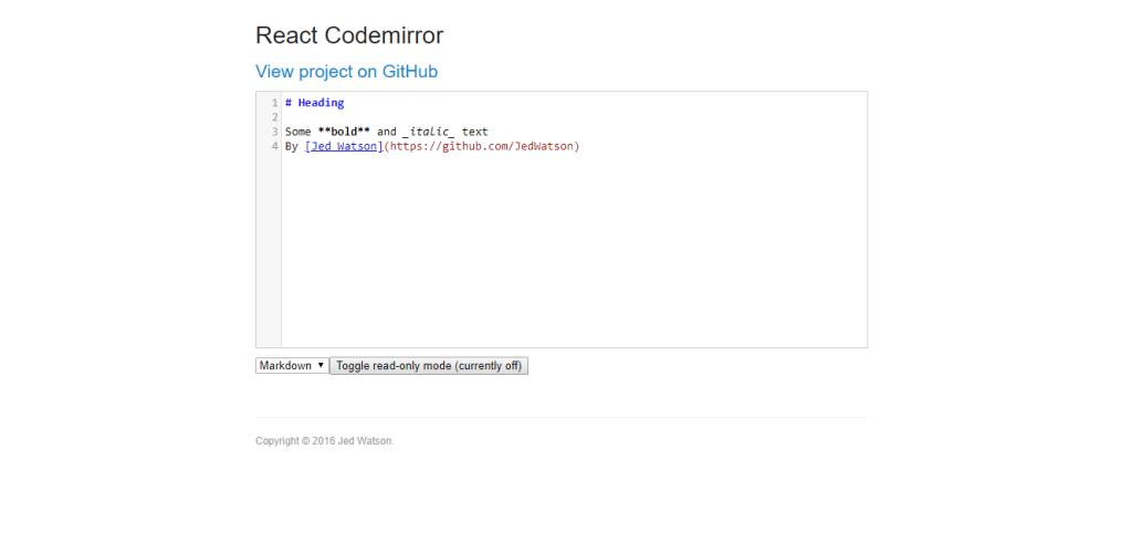 React Codemirror