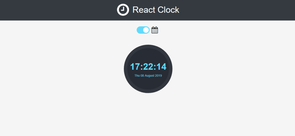 react toggle button clock
