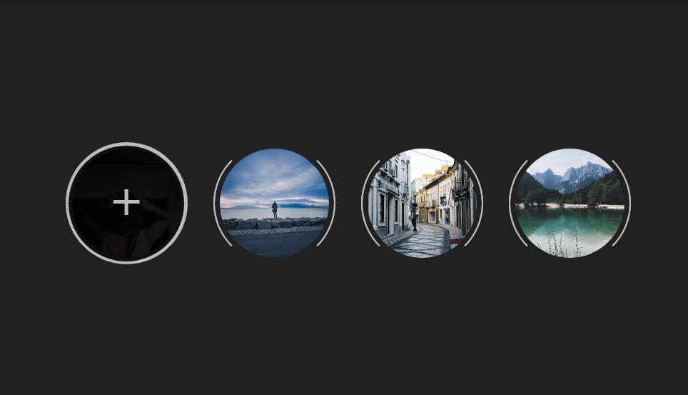 circular image overlay effect