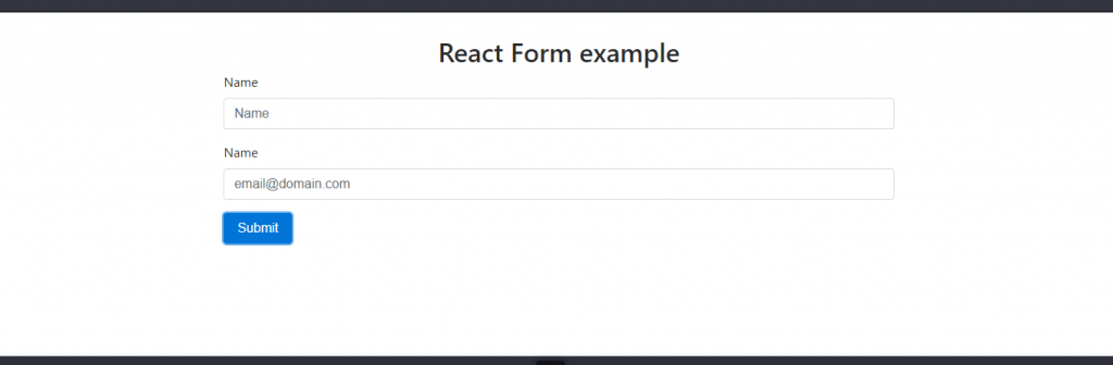 React form example