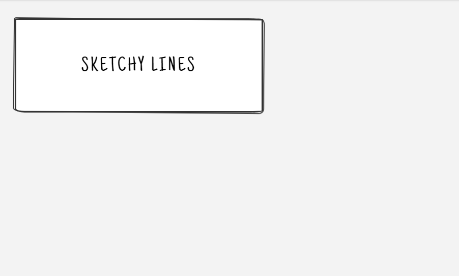 sketchy double line border