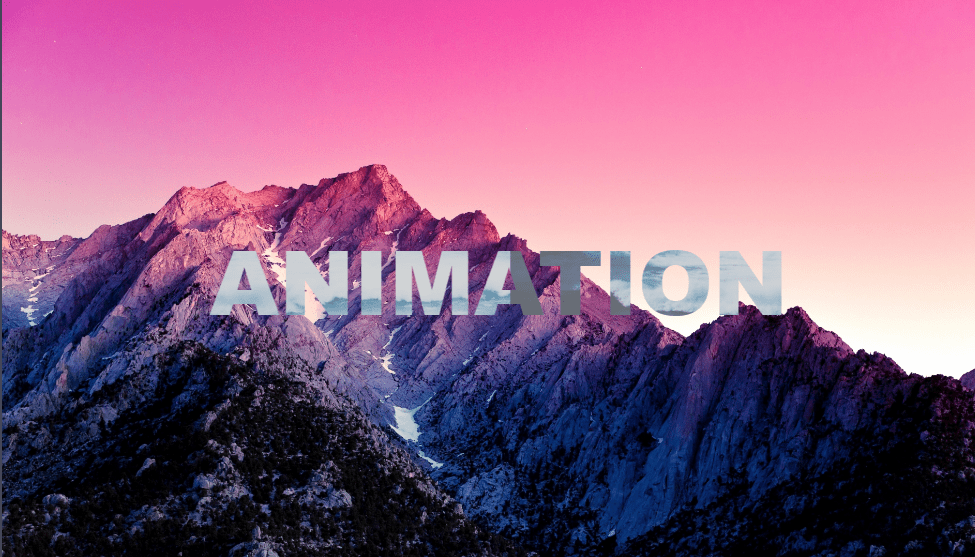 text animation with css