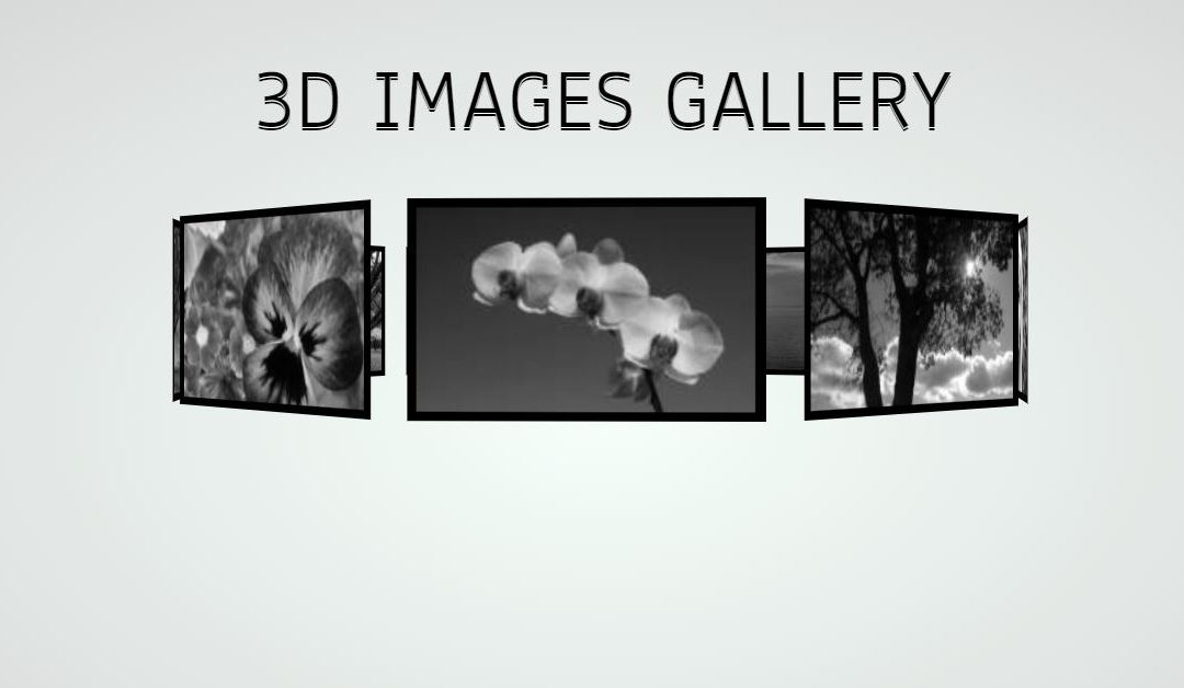 CSS 3D Image Gallery Effect