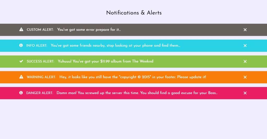 UI CSS alert box