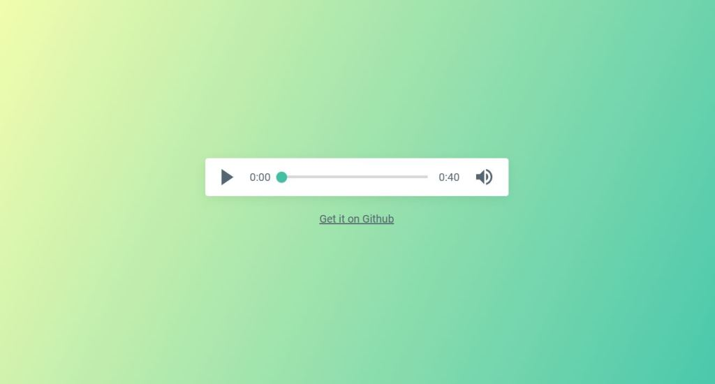 Green Audio Player UI