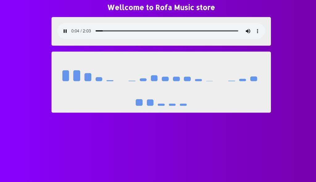 wellcome to rofa css music player