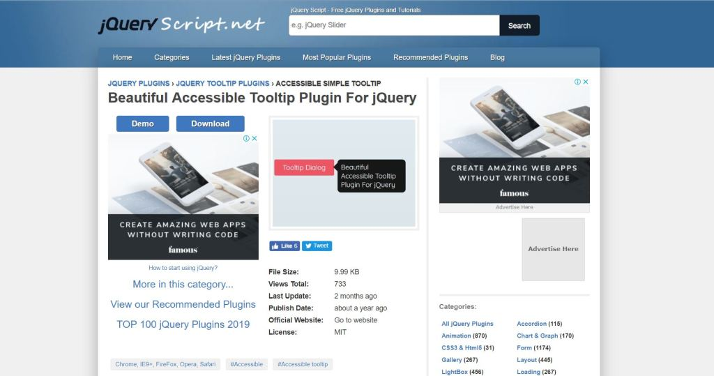 Accessible Tooltip Plugin