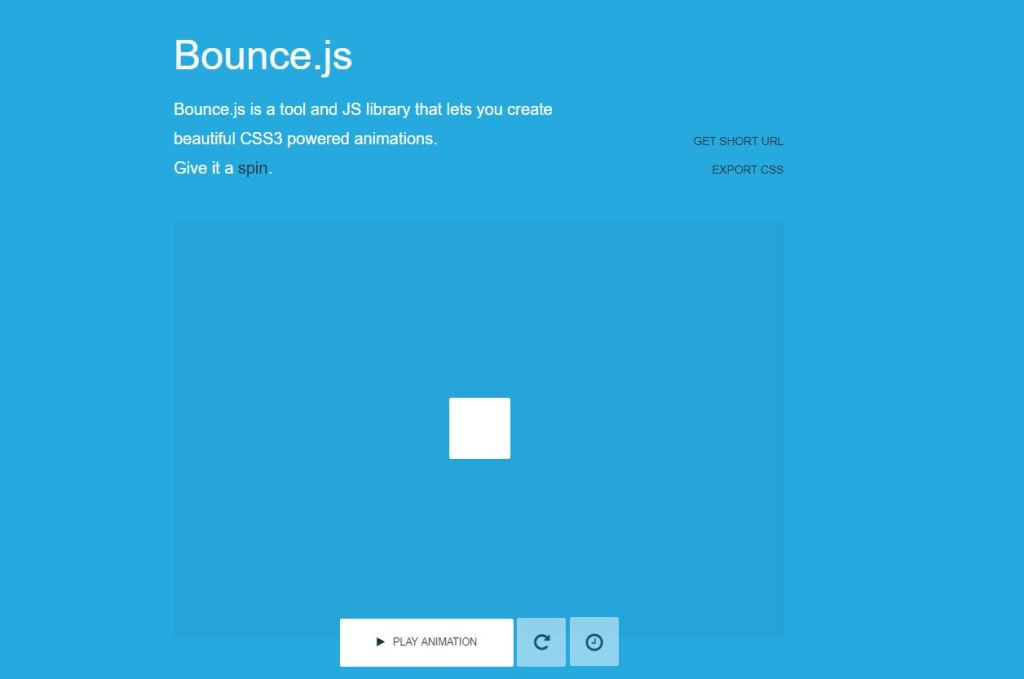 Bounce CSS transition animation libraries