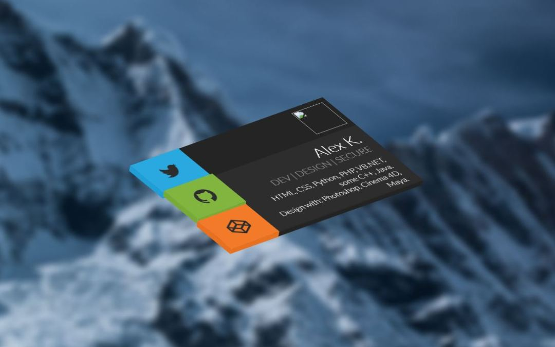CSS Business Card UI Design Examples