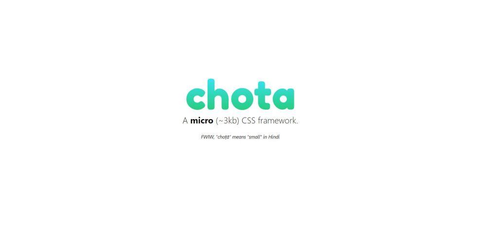 chota light css frontend grid framework