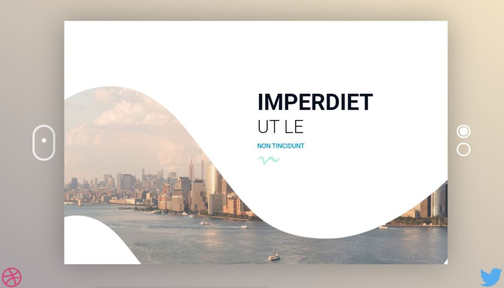 slide html css curved background