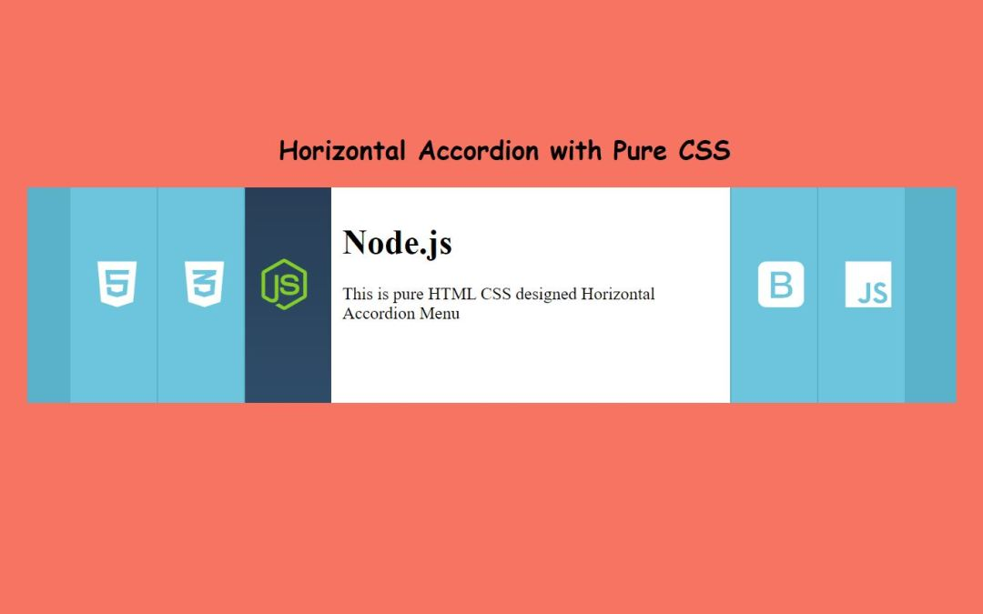 How to Make Horizontal Accordion Menu with CSS