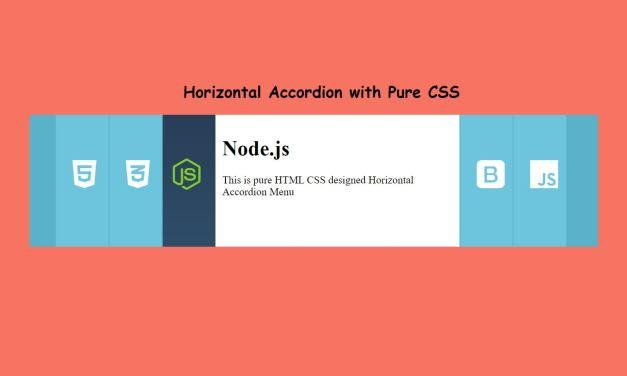 How to Make Horizontal Accordion Menu with CSS
