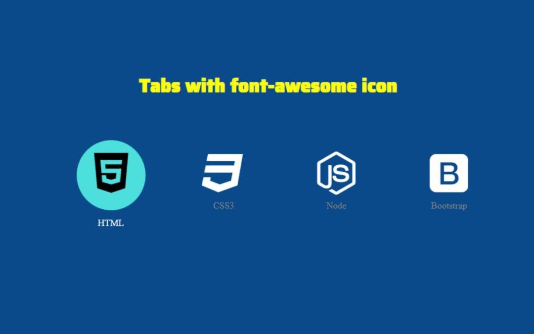 CSS Icon Tab Menu Tutorial