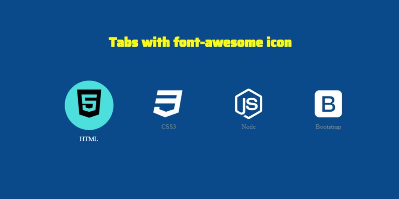 How to Make Icon Tab Menu with CSS