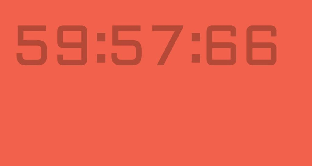 HTML CSS digital clock animation countdown timer clock.