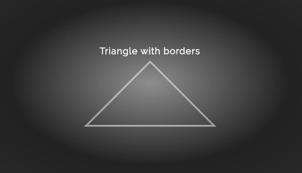 draw or create a triangle with border and corner along with triangle generator using HTML, CSS and JavaScript.