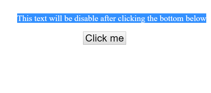 Disable text selection highlighting