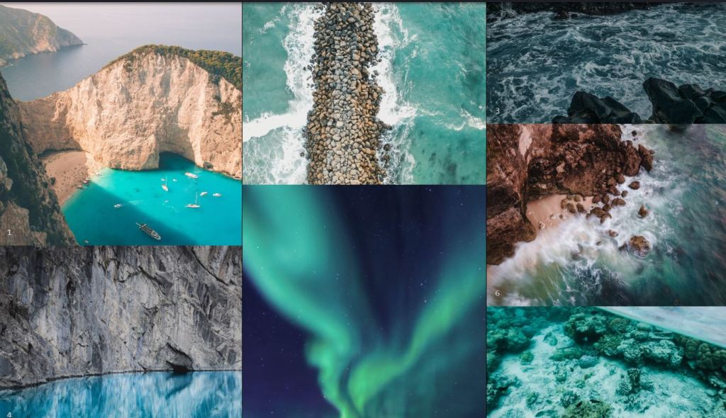 flip image grid gallery