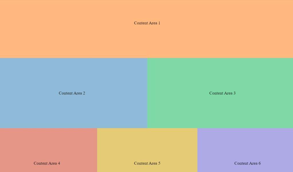 fluid grid blocks responsive div CSS