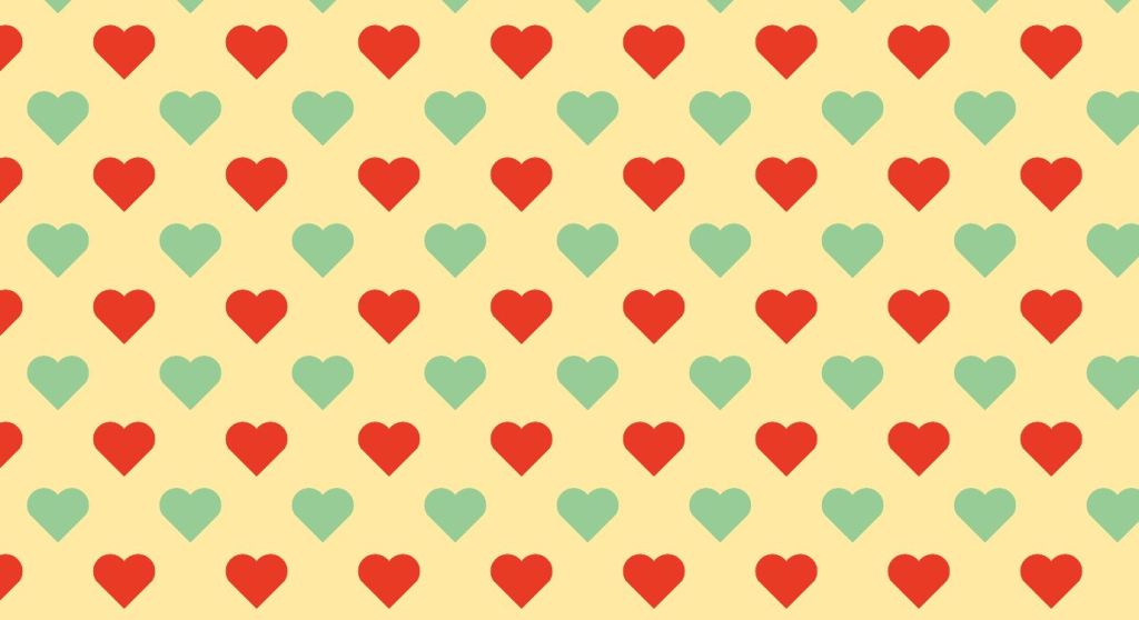 hearts background pattern