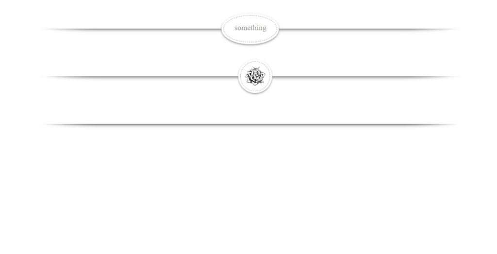 examples of horizontal section divider/separator or line using HTML, CSS, and JavaScript.