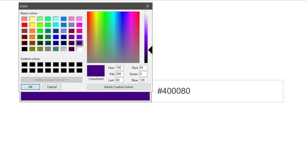 html css javascript jquery color code picker