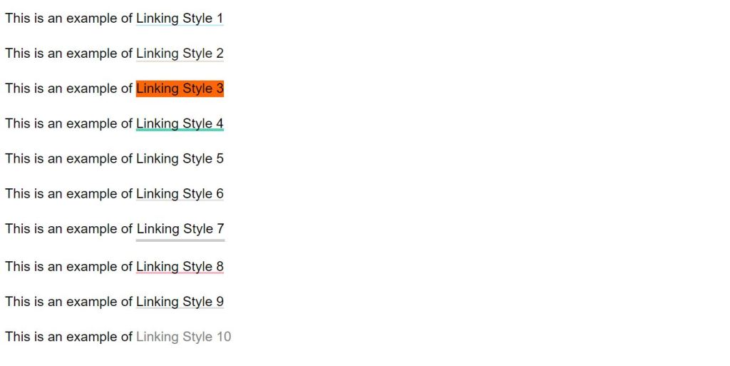HTML Link Styles