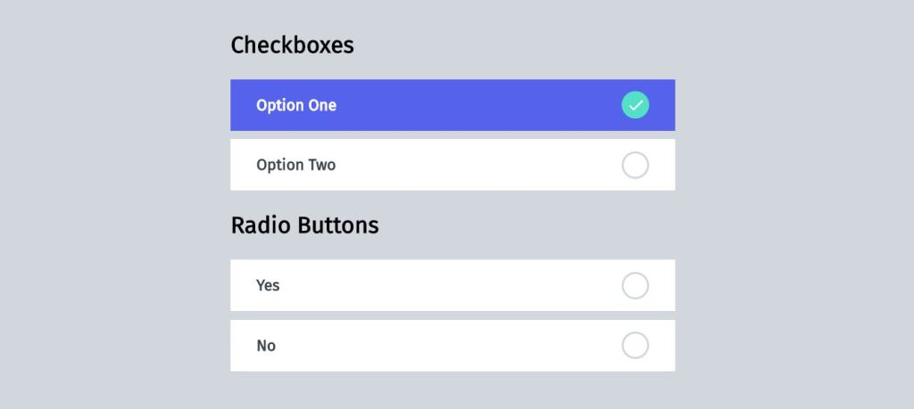 material inspired checkboxes