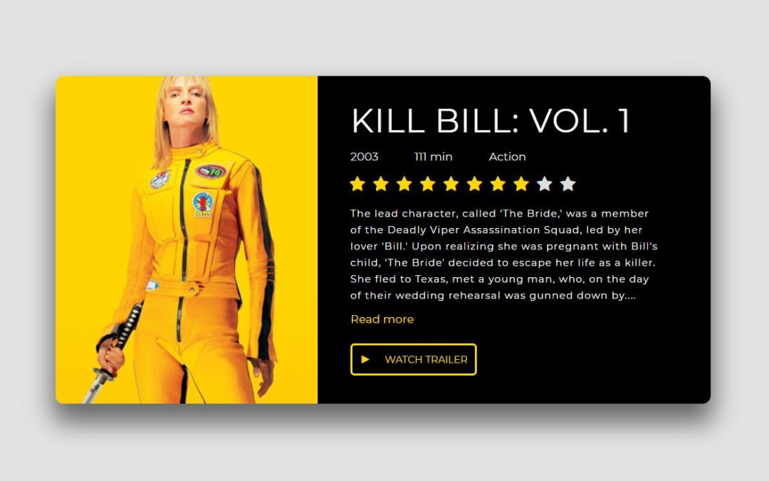 CSS Movie Card Examples