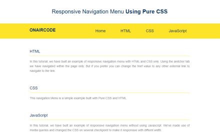 How to Make Navigation Menu with HTML and CSS