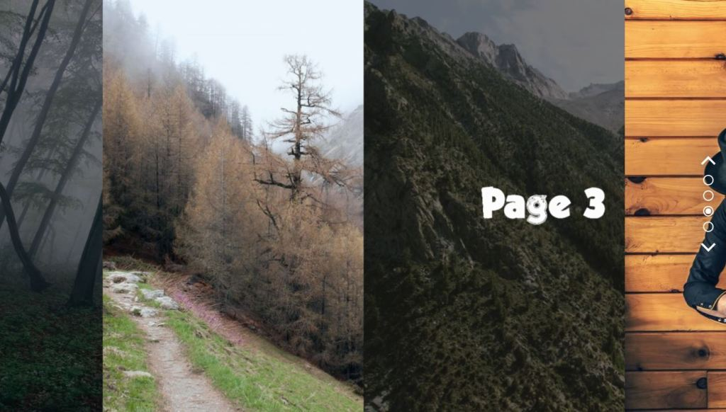 page transition example javascript