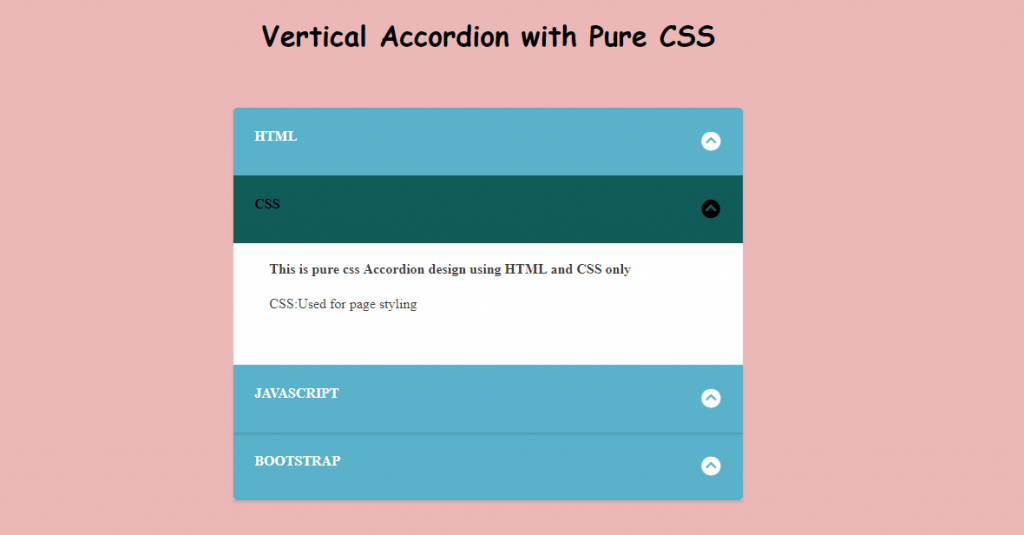 CSS Vertical Accordion Menu