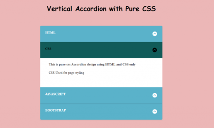How to Make Vertical Accordion Menu with CSS