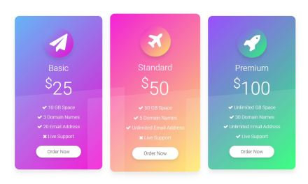 20+ HTML CSS Pricing Table Examples