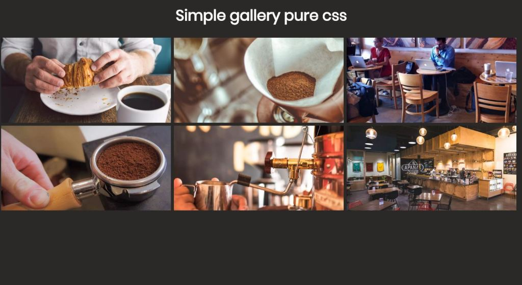 simple pure css image/photo gallery