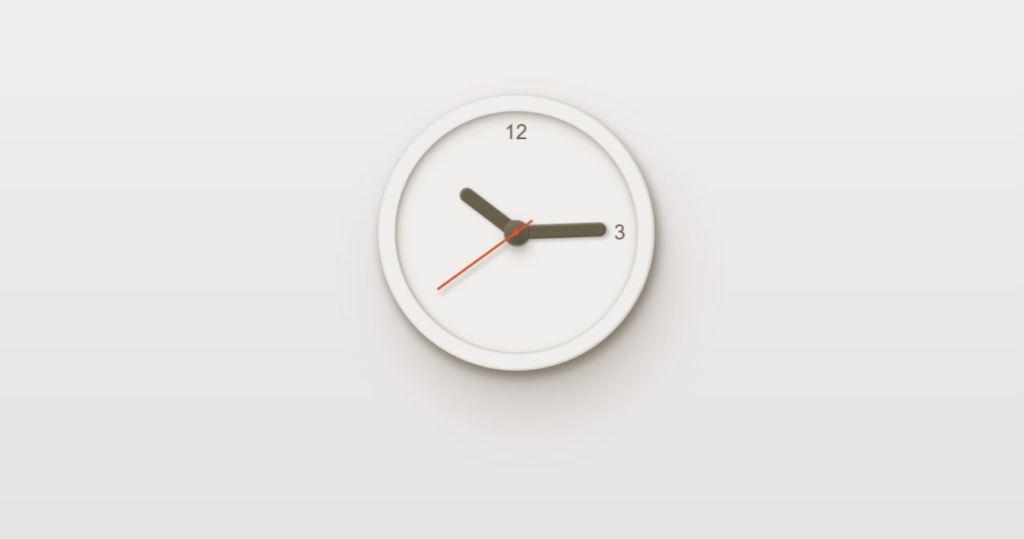 realistic minimal html watch