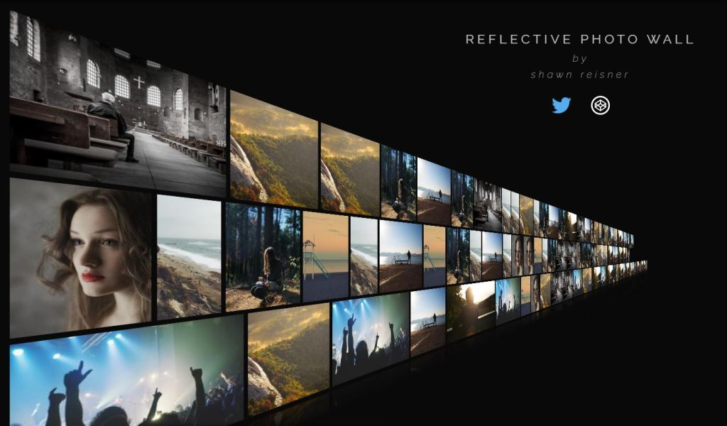 CSS Reflective Responsive Image Gallery Wall