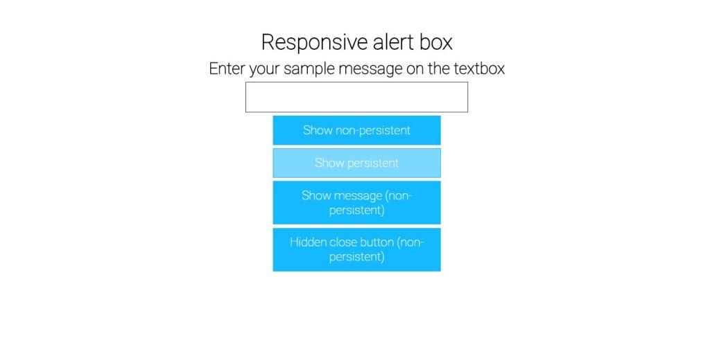 Responsive Alert Box
