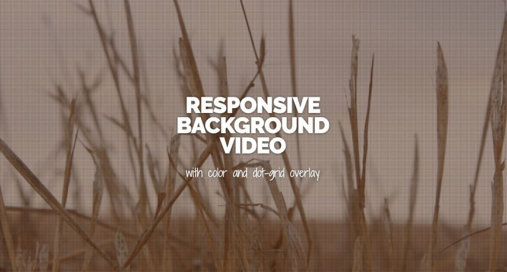 responsive background mp4 video using html,css,bootstrap and javasript