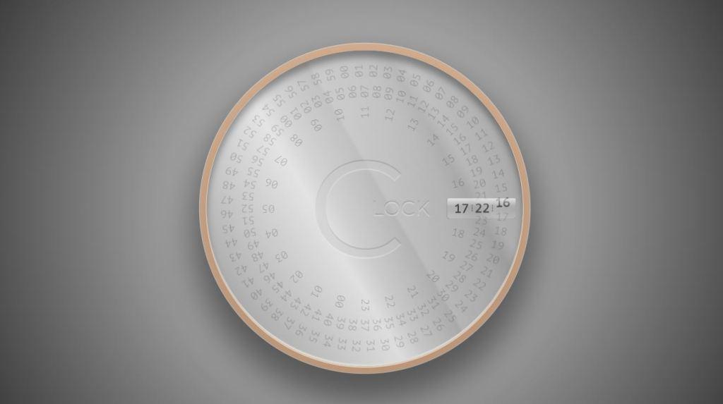 rotating html countdown clock