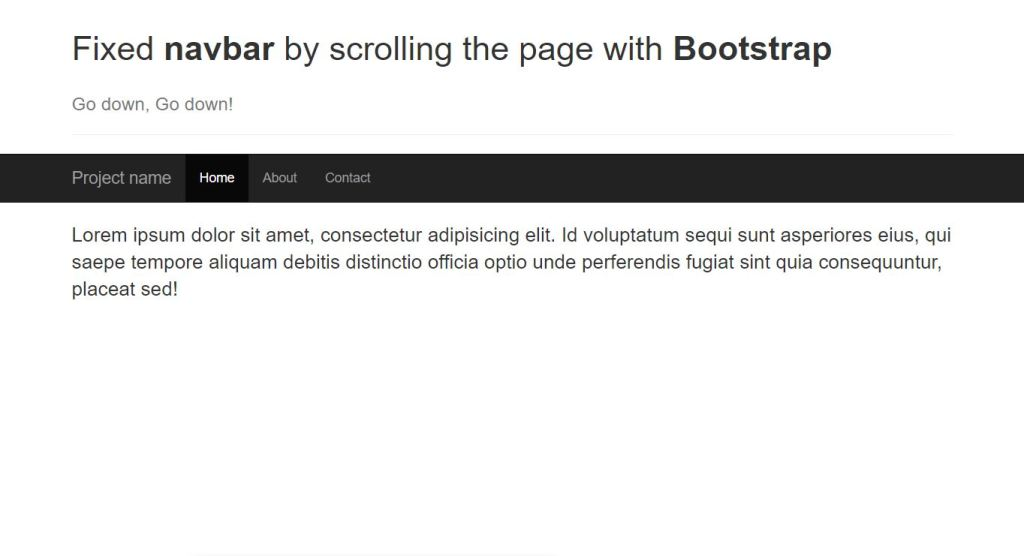 Sticky Navigation with Bootstrap