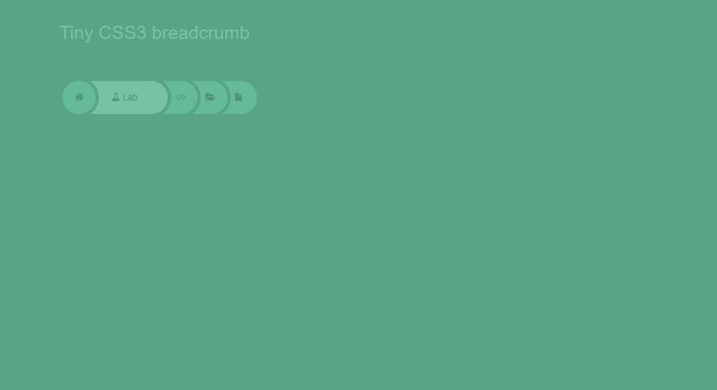 simple responsive breadcrumbs css