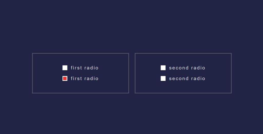 toggle radio input