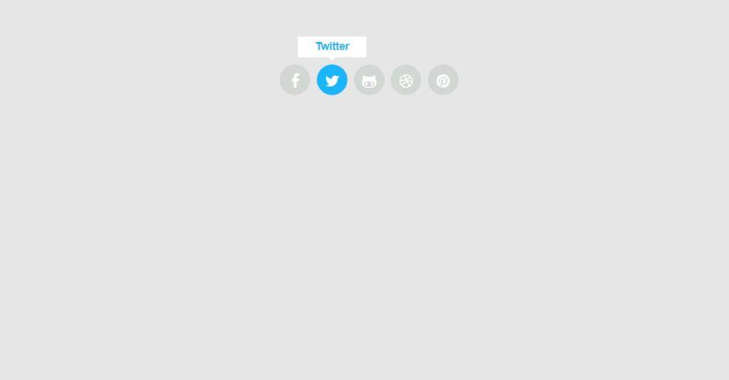 social icon hover