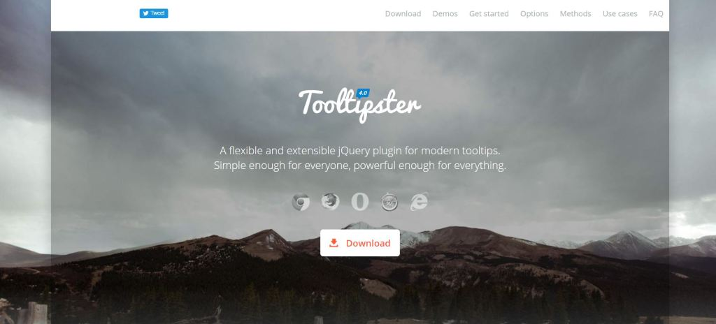 jQuery(JavaScript) Tooltip ToolTipster