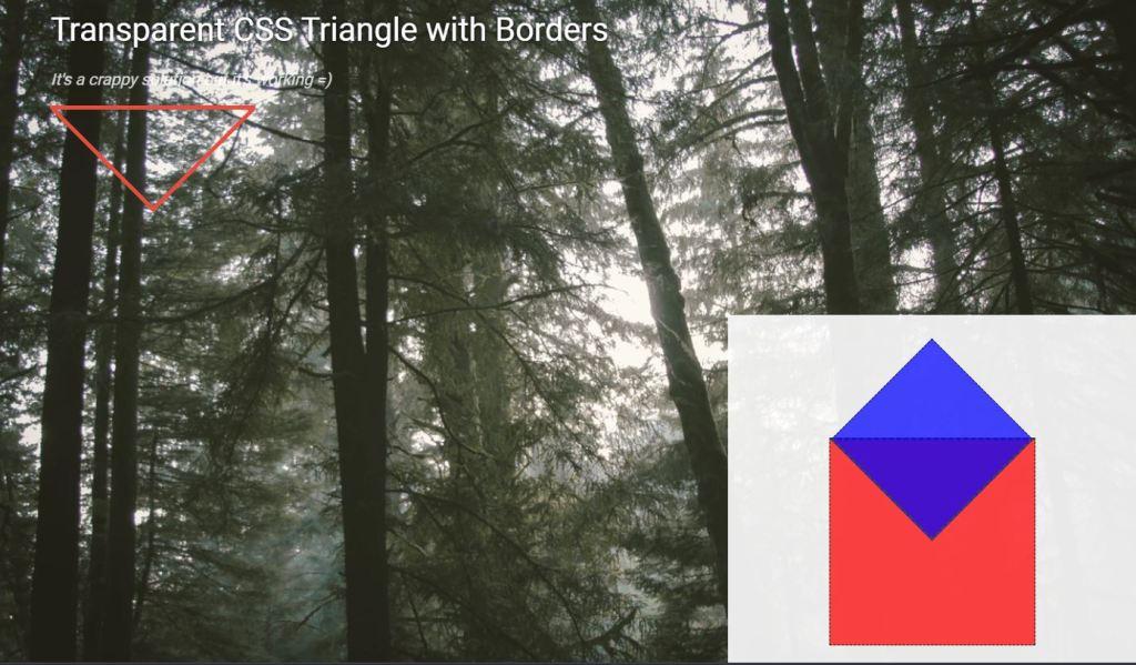 transparent css triangle